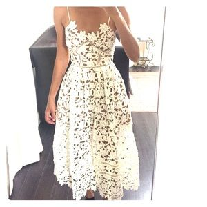 White Flower pedal midi dress size XS